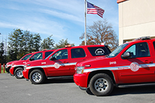 Red Emergency Sports Utility Vehicles